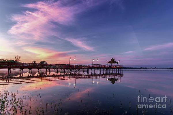 Photograph - Sunrise Pier by Rod Best