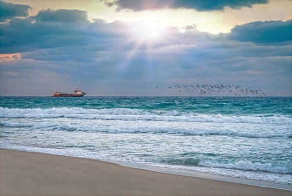 Photograph - Sunrise Rays On The Coast by Lynn Bauer