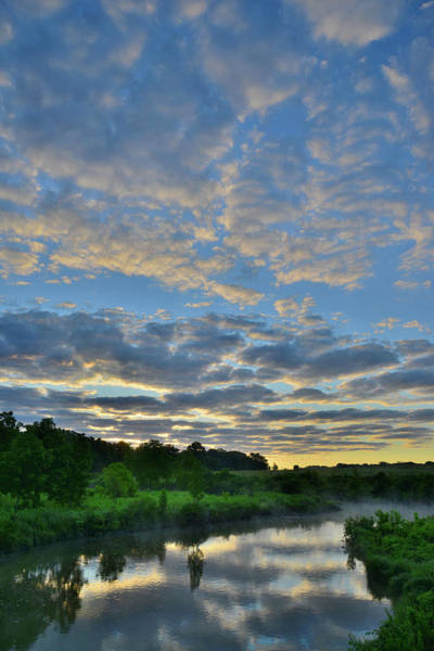 Photograph - Sunrise Reflected In Nippersink Creek Of Glacial Park by Ray Mathis