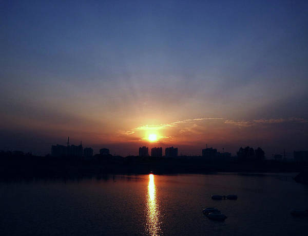 Photograph - Sunrise Reflection by Atullya N Srivastava