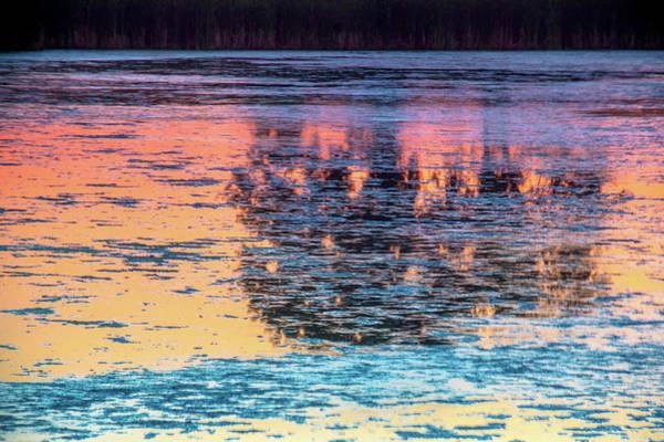 Photograph - Sunrise Reflections by John De Bord