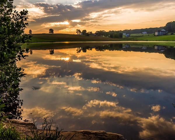 Photograph - Sunrise Reflections by Lori Coleman