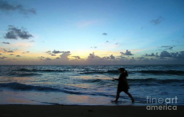 Photograph - Sunrise Seascape Shore Fishing At Dawn B6 by Ricardos Creations
