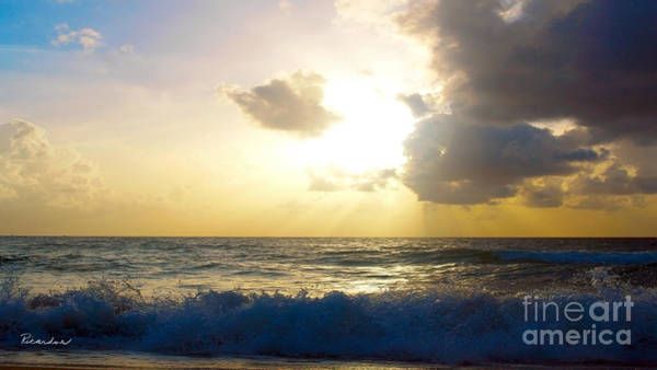 Photograph - Sunrise Seascape Treasure Coast Florida B3 by Ricardos Creations