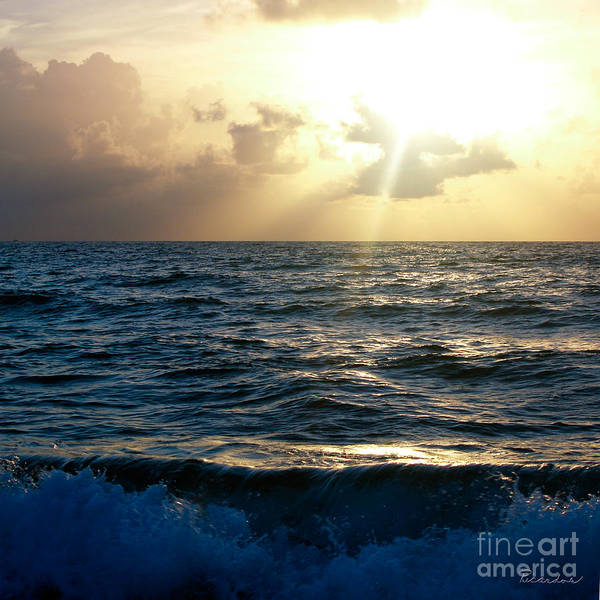 Photograph - Sunrise Seascape Treasure Coast Florida C5 by Ricardos Creations