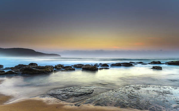 Killcare Photograph - Sunrise Seascape With Beautiful Light by Merrillie Redden