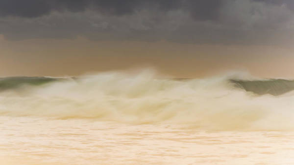 Killcare Photograph - Sunrise Seascape With Creamy Big Surf by Merrillie Redden