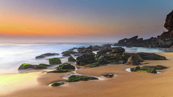 Killcare Photograph - Sunrise Seascape With Rocks by Merrillie Redden