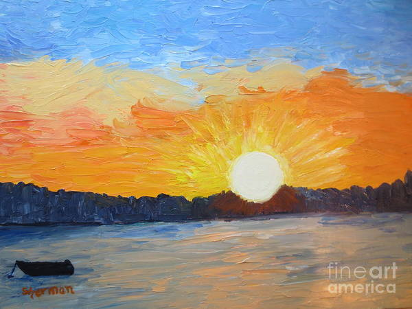 Painting - Sunrise At Pine Point by Stella Sherman