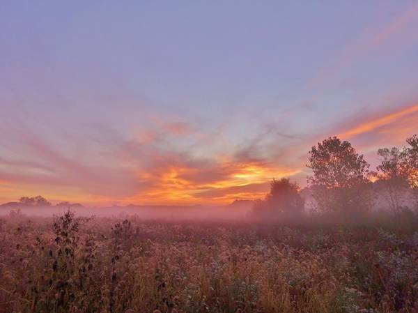 Wall Art - Photograph - Sunrise Show by Red Cross
