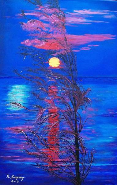 Painting - Sunrise Silhouette by Sharon Duguay