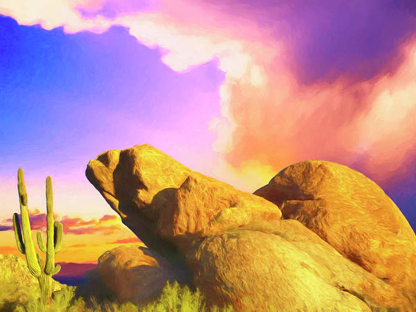 Painting - Sunrise Sonoran Desert by Dominic Piperata