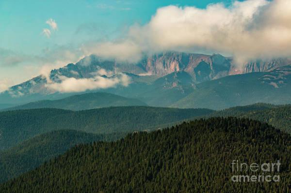 Photograph - Sunrise Storm On Pikes Peak by Steve Krull