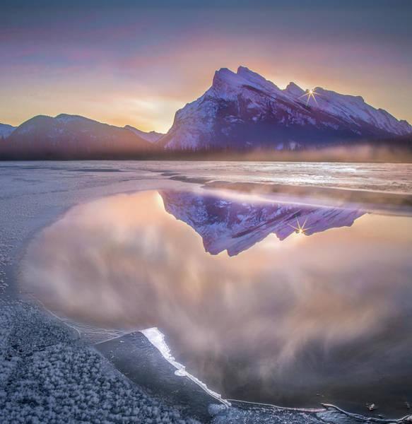 Photograph - Sunrise Sunburst // Vermillion Lakes, Alberta by Nicholas Parker