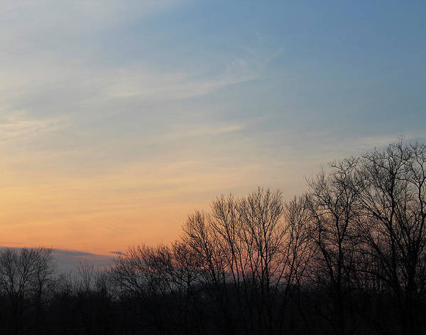 Photograph - Fall Sunset by Melinda Blackman