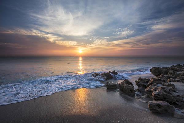 Photograph - Sunrise Surf by Debra and Dave Vanderlaan