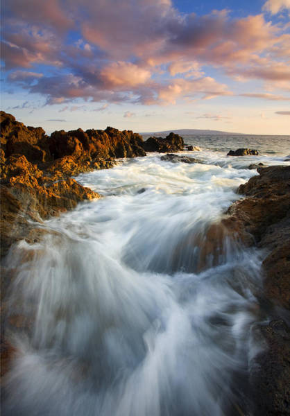Kihei Photograph - Sunrise Surge by Mike  Dawson