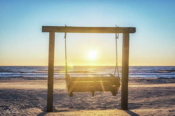 Sunrise Swings Art Print