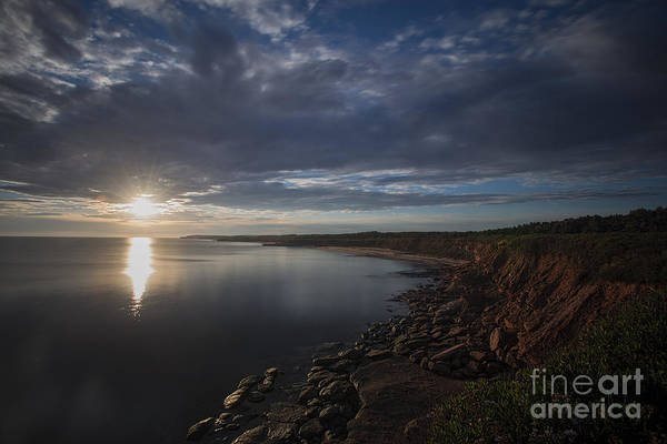 Photograph - Sunrise The Red Cliffs On Prince Edward Island by Dan Friend