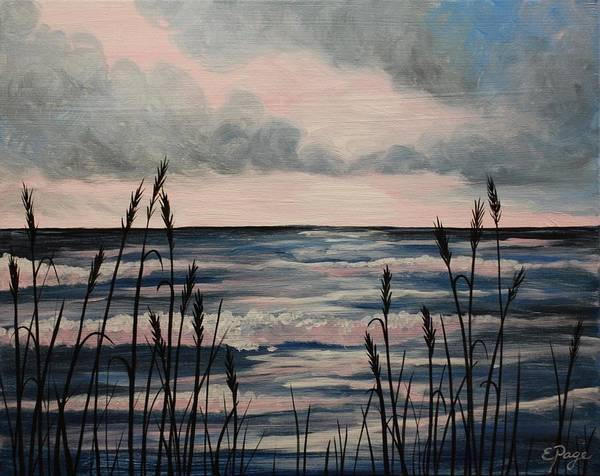 Painting - Sunrise Through The Reeds by Emily Page