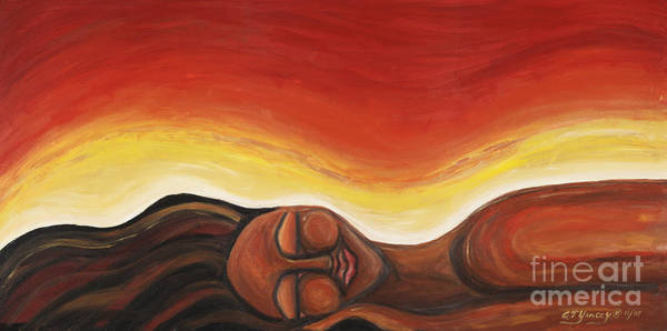 African American Woman Wall Art - Painting - Sunrise by Tiffany Yancey