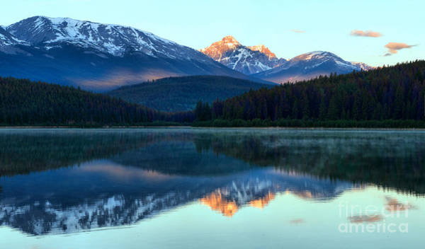 Photograph - Sunrise Tips In Patricia Lake by Adam Jewell