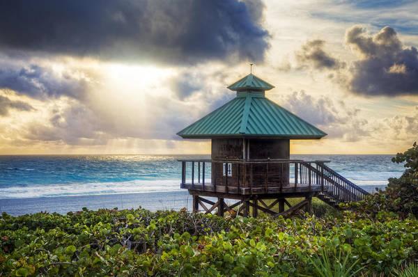 Boynton Photograph - Sunrise Tower At The Beach by Debra and Dave Vanderlaan
