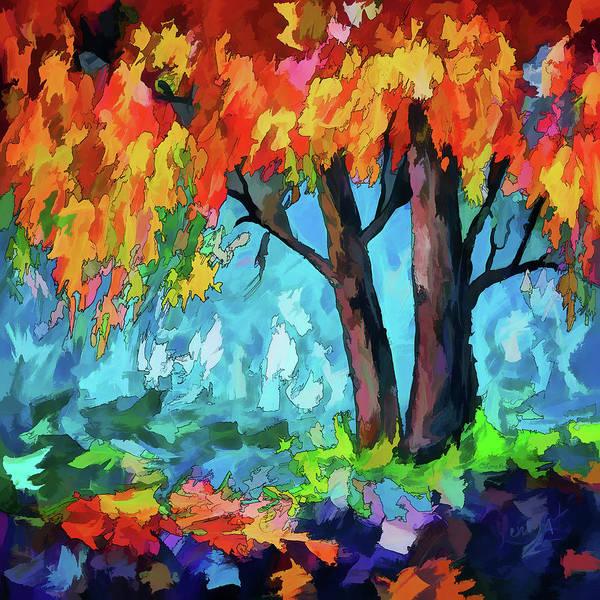 Digital Art - Sunrise Tree by OLena Art Brand