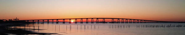 Wall Art - Photograph - Sunrise Under Navarre Bridge On Santa Rosa Sound Panoramic by Jeff at JSJ Photography