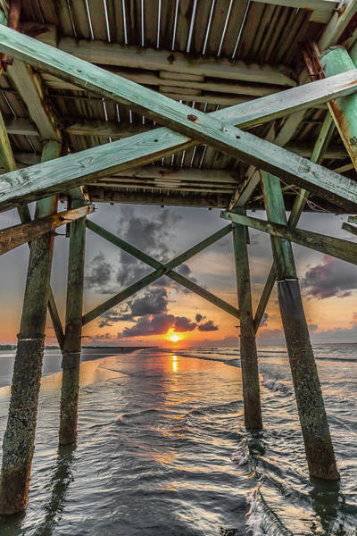 Photograph - Sunrise Under The Pier - Isle Of Palms, Sc by Donnie Whitaker