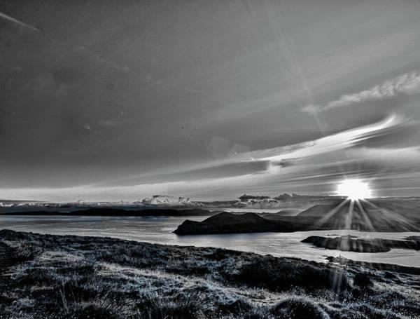 Photograph - Sunrise Valentia Island Bw #f2 by Leif Sohlman