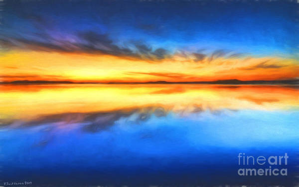 Painterly Painting - Sunrise by Veikko Suikkanen