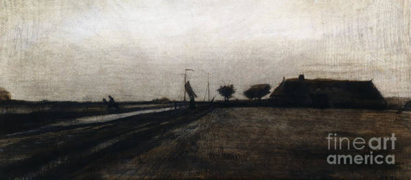 Grey Skies Wall Art - Drawing - Sunrise by Vincent Van Gogh