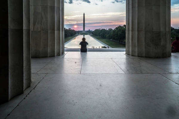 Photograph - Sunrise Watcher In Washington, Dc by Sven Brogren