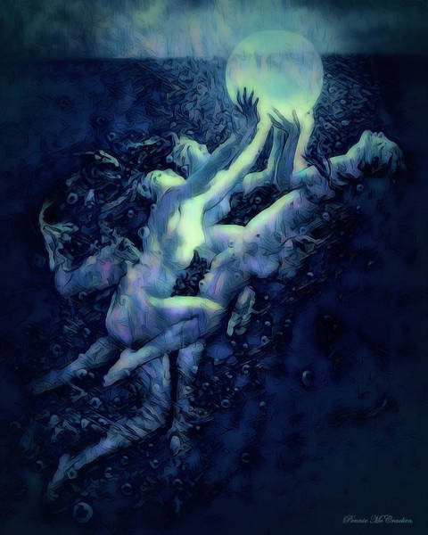 Digital Art - Sunrise Water Nymphs by Pennie McCracken