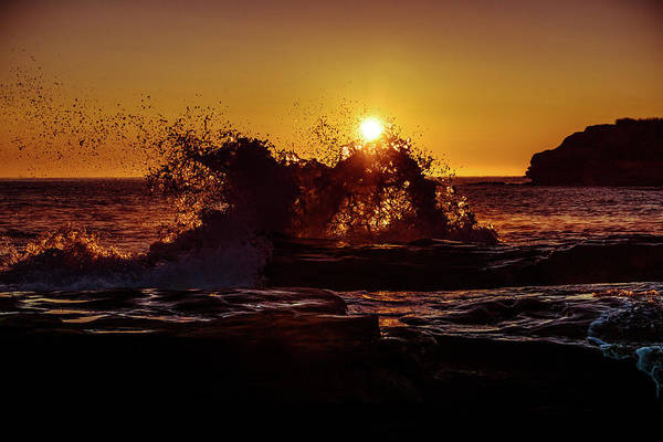 Photograph - Sunrise Waves Crash  by Chris Bordeleau
