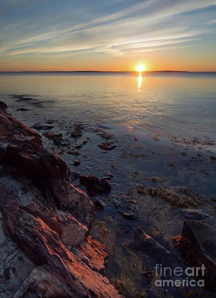 Photograph - Sunrise, West Penobscot Bay, Camden, Maine  -43869-43871 by John Bald
