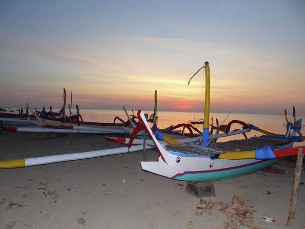 Photograph - Sunrise With Boats by Exploramum Exploramum