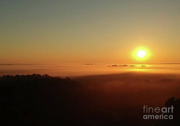 Wall Art - Digital Art - Sunrise With Fog  by James Mcpherson