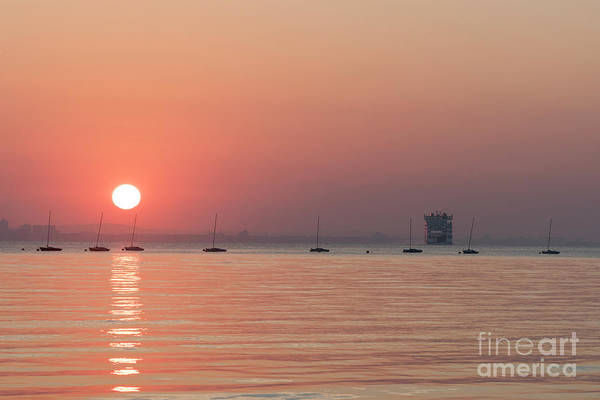 Photograph - Sunrise With Wightlink Ferry by Clayton Bastiani