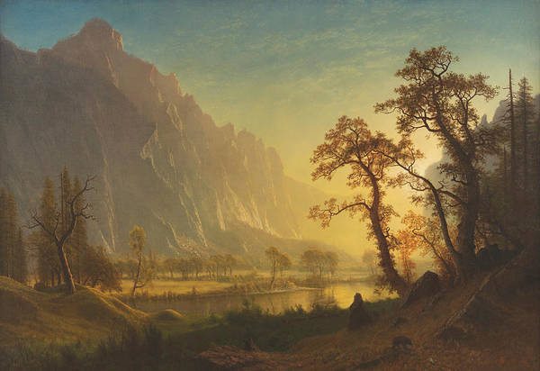 Dome Painting - Sunrise, Yosemite Valley by Albert Bierstadt
