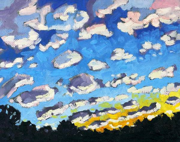 Stratocumulus Painting - Suns Up by Phil Chadwick
