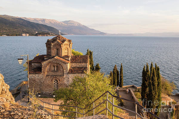 Photograph - Sunser Over The Famous St John Church At Kaneo In Ohrid by Didier Marti
