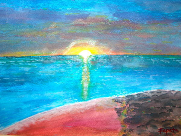 Painting - Sunset-1 by Felix Zapata