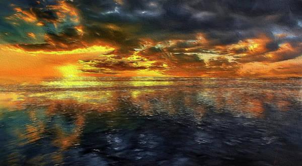 Sunset #95 Or Sunset Over The Atlantic. Art Print