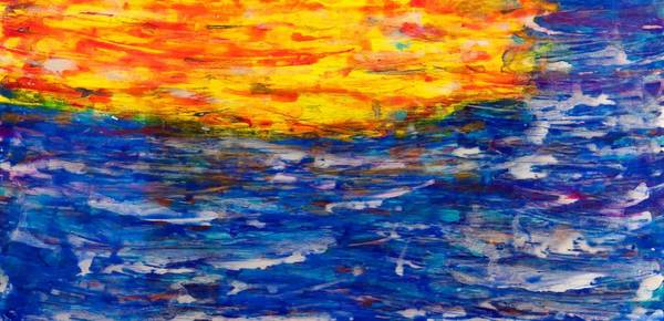 Wall Art - Painting - Sunset 15-17 by Patrick OLeary