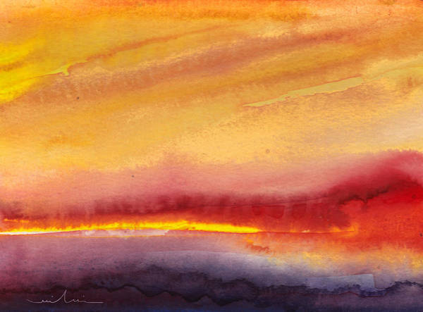 Campagne Painting - Sunset 21 by Miki De Goodaboom