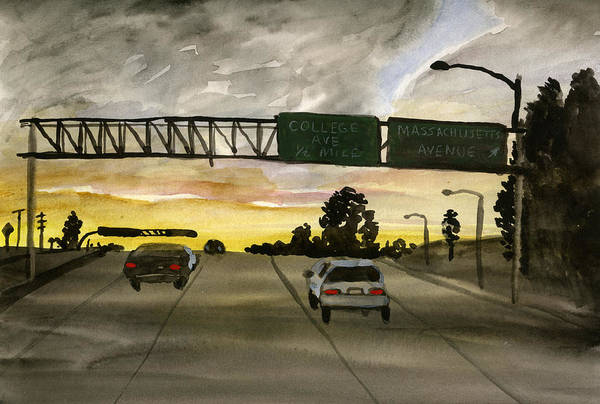 Painting - Sunset #28 Freeway by Brian Meyer