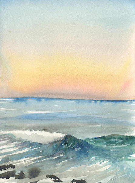 Painting - Sunset 33 - La Jolla by Brian Meyer