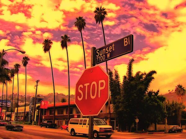 Digital Art - Sunset 7700w by Leigh Kemp